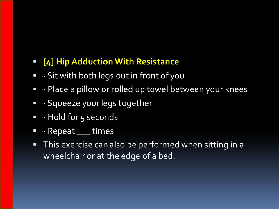 [4] Hip Adduction With Resistance